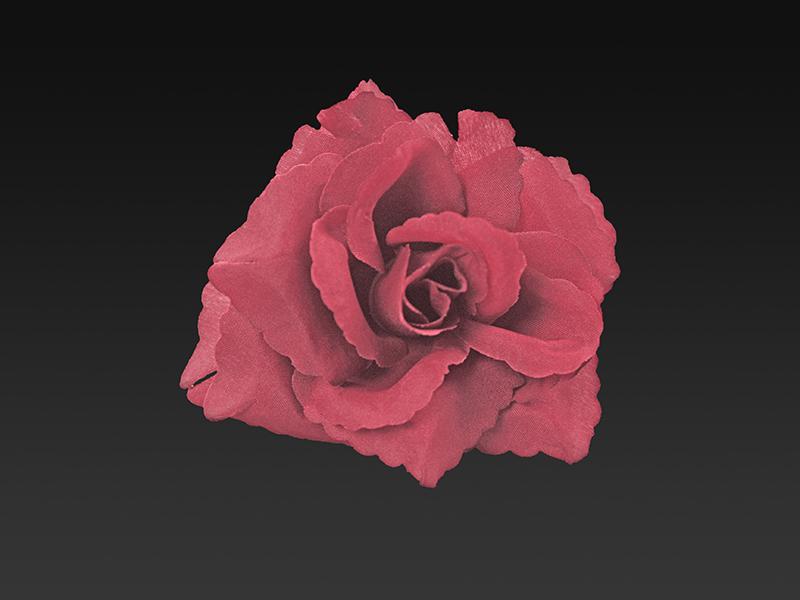 autó dekoráció – öntapadós rózsa, bordó