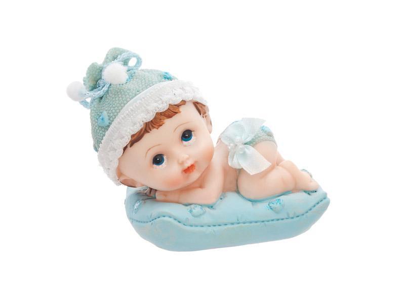 babaváró tortadísz – fiúbaba párnán