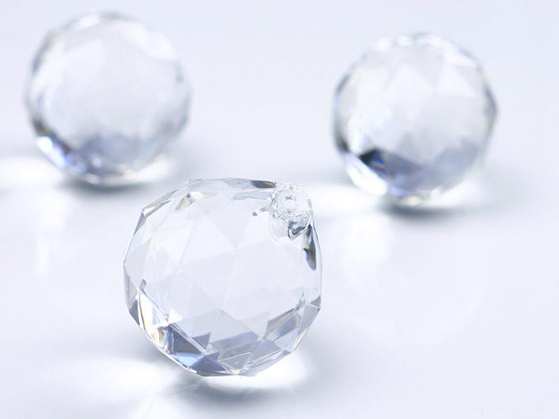 csepp alakú kristály dísz (5 db/cs) – átlátszó