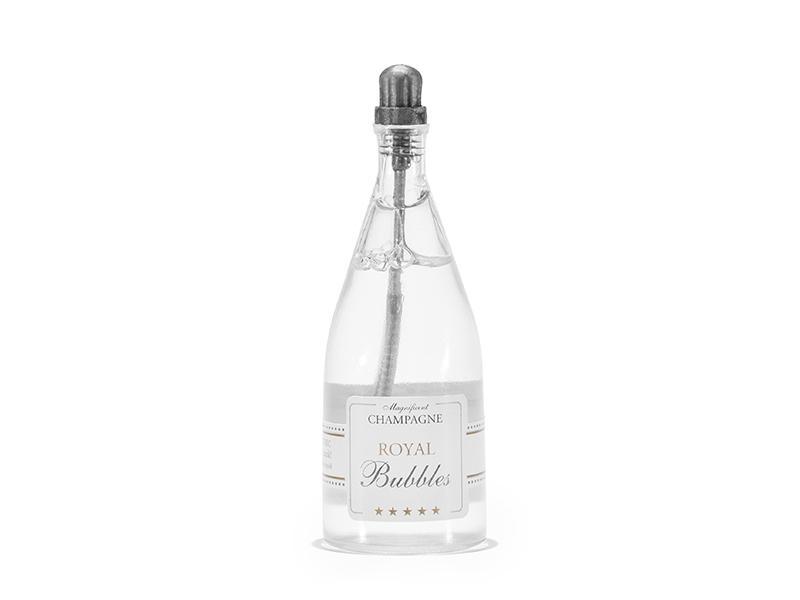 esküvői buborékfújó – pezsgősüveg alakú