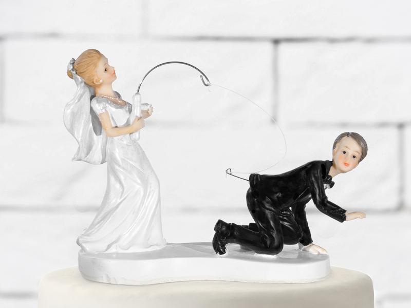 esküvői tortadísz – horgász