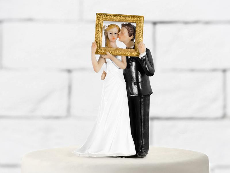 esküvői tortadísz – képkeret
