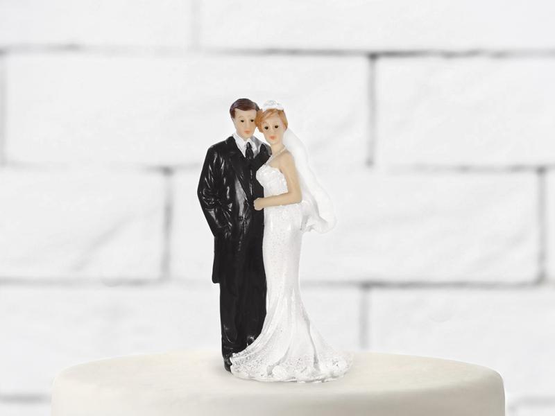 esküvői tortadísz – klasszikus, szőke
