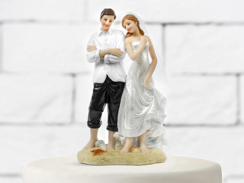esküvői tortadísz – tengerpart