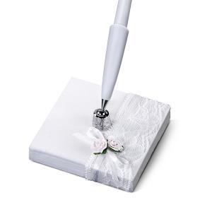esküvői toll – vintage, fehér