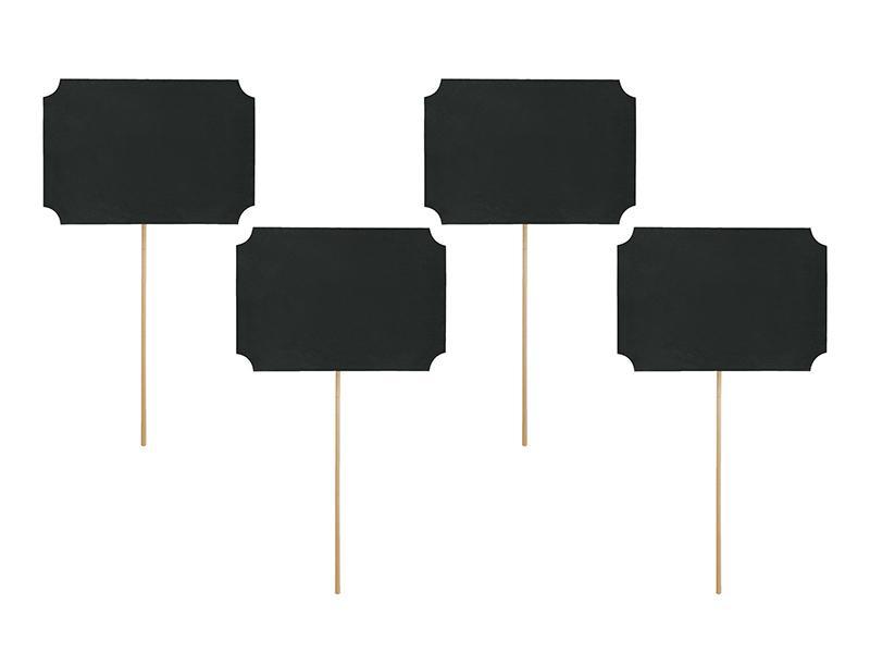 feliratozható fekete táblák (4 db/cs) – pálcikás