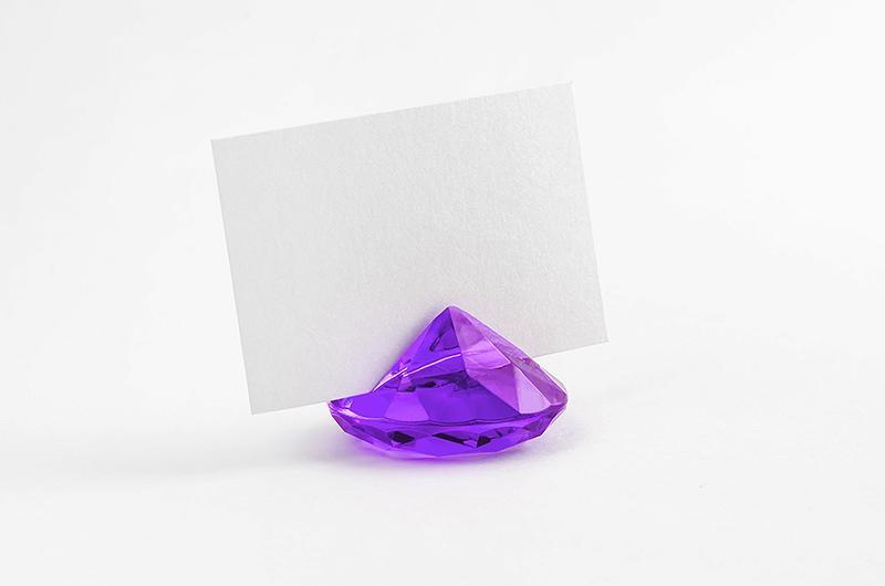 gyémánt alakú ültetőkártya tartó (10 db/cs) – lila