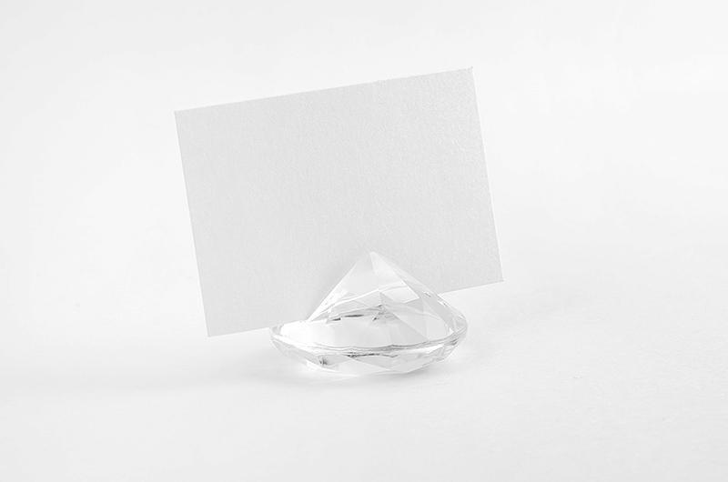 gyémánt alakú ültetőkártya tartó (10 db/cs) – színtelen