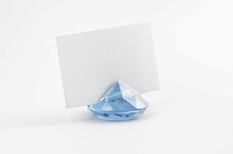 gyémánt alakú ültetőkártya tartó (10 db/cs) – vintage kék