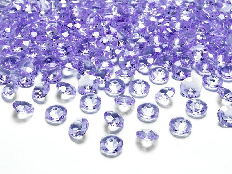 gyémánt dekorkő 12 mm (100 db/cs) – lila