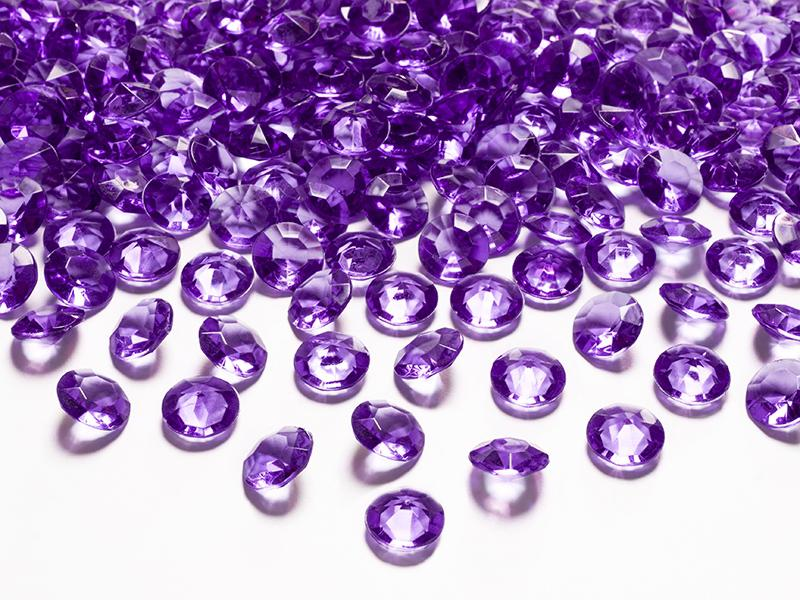 gyémánt dekorkő 12 mm (100 db/cs) – sötétlila