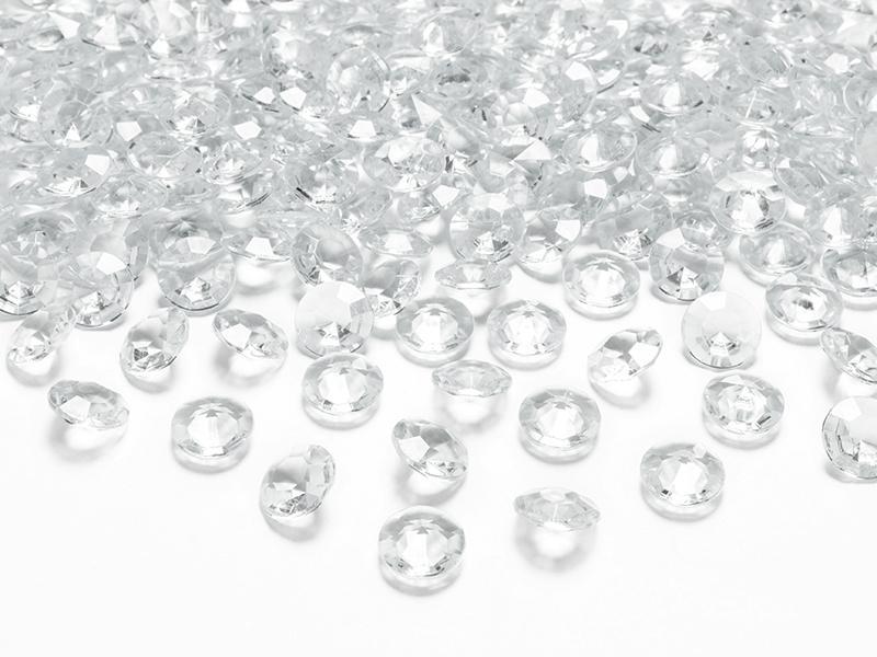 gyémánt dekorkő 12 mm (100 db/cs) – színtelen
