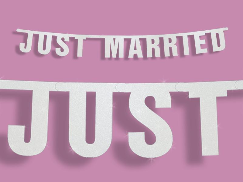 Just Married esküvői felirat