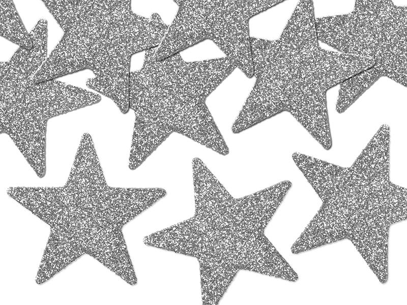 karácsonyi csillag dísz (8 db/cs) – ezüst