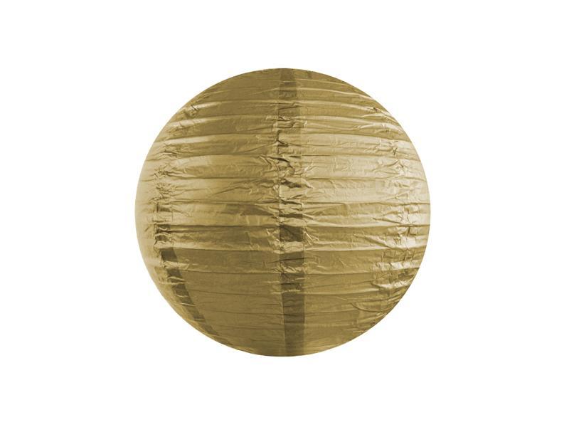 lampion gömb 25 cm – arany