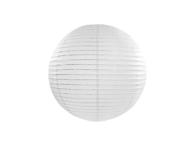 lampion gömb 25 cm – fehér