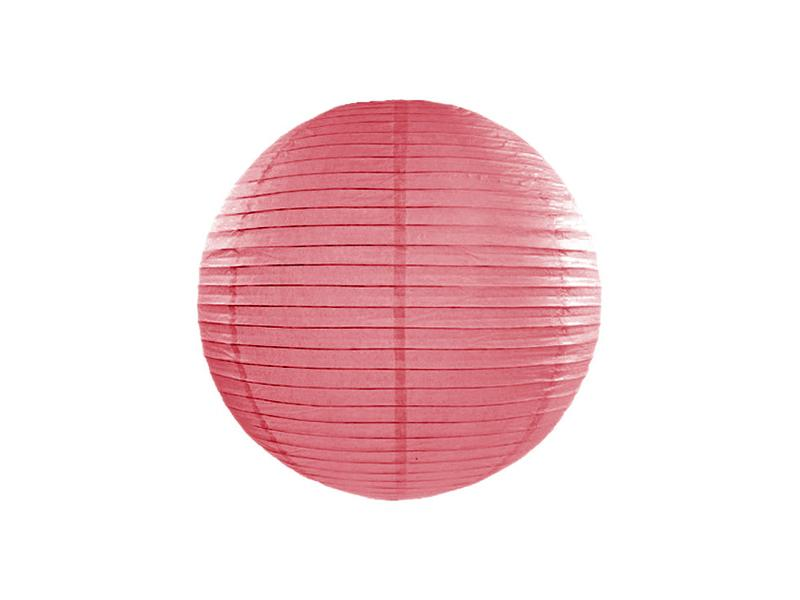 lampion gömb 25 cm – korall