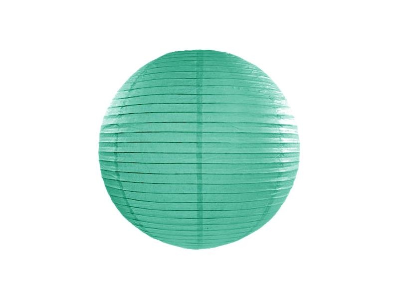 lampion gömb 25 cm – sötét menta