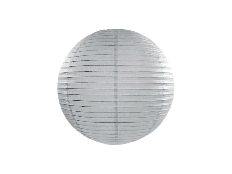 lampion gömb 25 cm – szürke