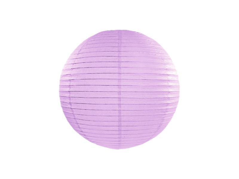 lampion gömb 25 cm – világoslila