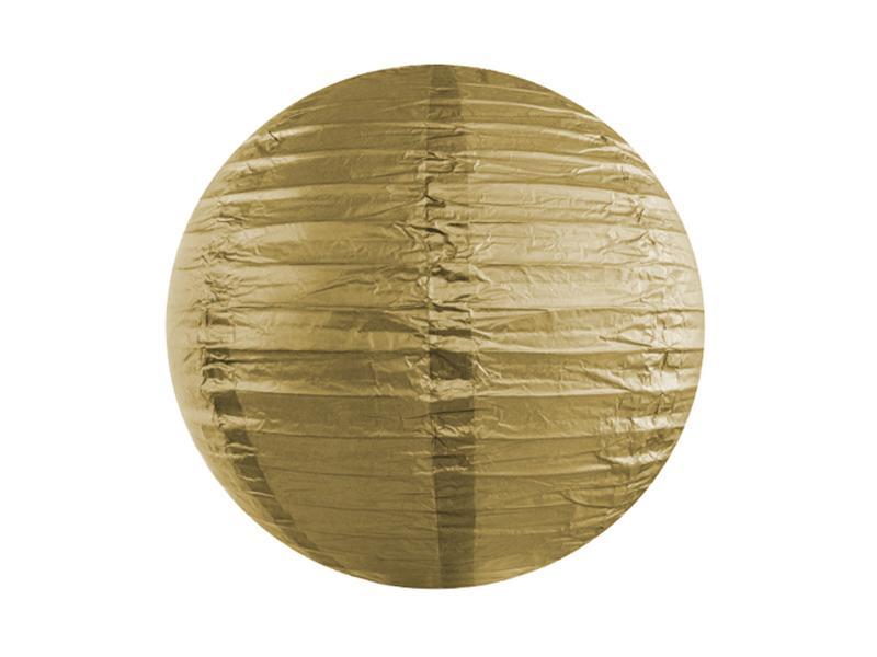 lampion gömb 35 cm – arany