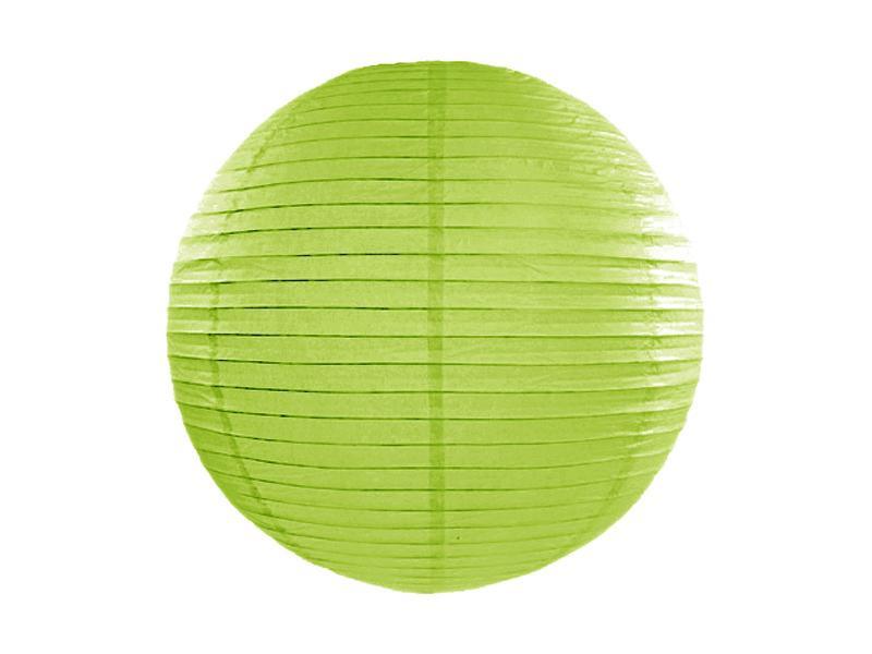 lampion gömb 35 cm – fűzöld