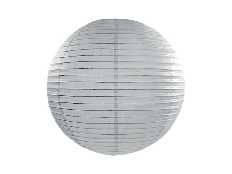 lampion gömb 35 cm – szürke