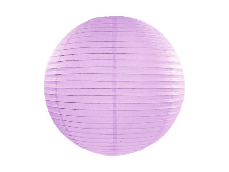 lampion gömb 35 cm – világoslila