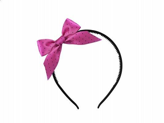 lánybúcsú hajpánt szatén masnival – pink