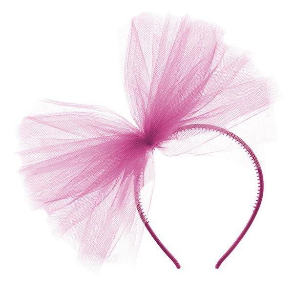 lánybúcsú hajpánt tüll masnival – pink