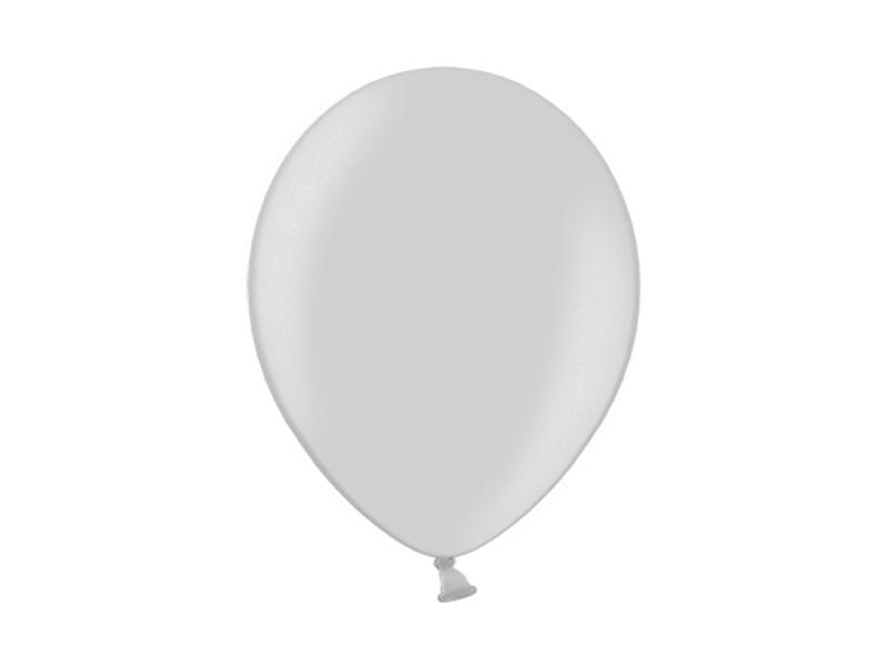 metál lufi 25 cm – ezüst
