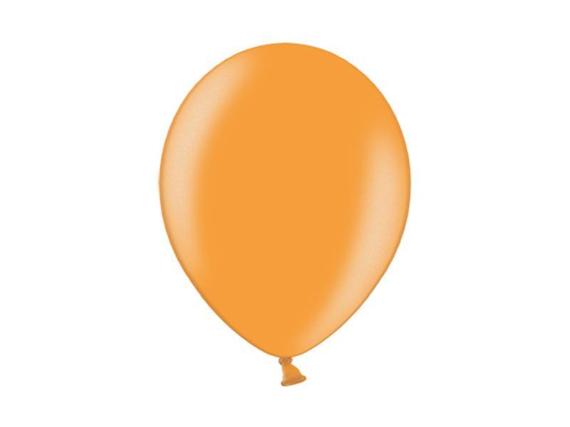 metál lufi 25 cm – narancs