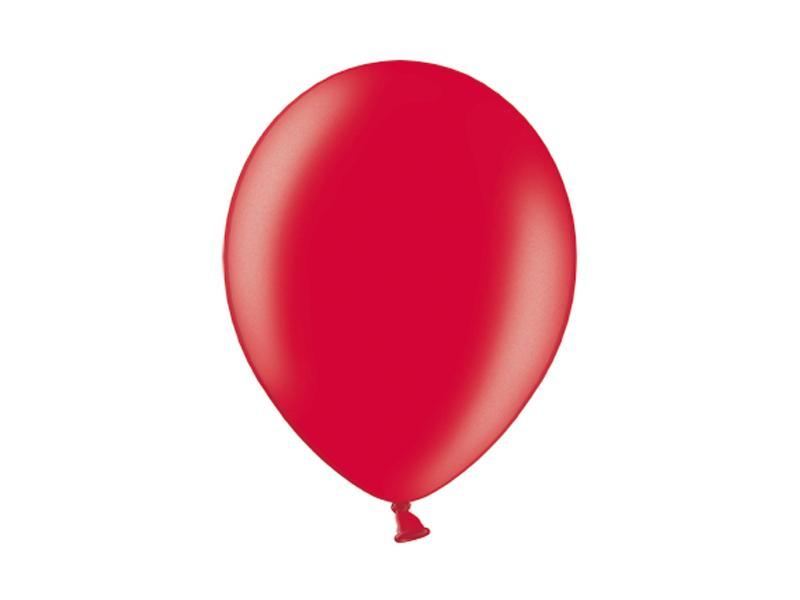 metál lufi 25 cm – piros