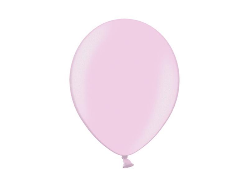 metál lufi 25 cm – rózsaszín