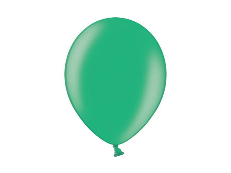 metál lufi 25 cm – sötétzöld