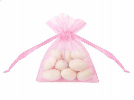 organza tasak 7,5x10 cm (20 db/cs) – rózsaszín
