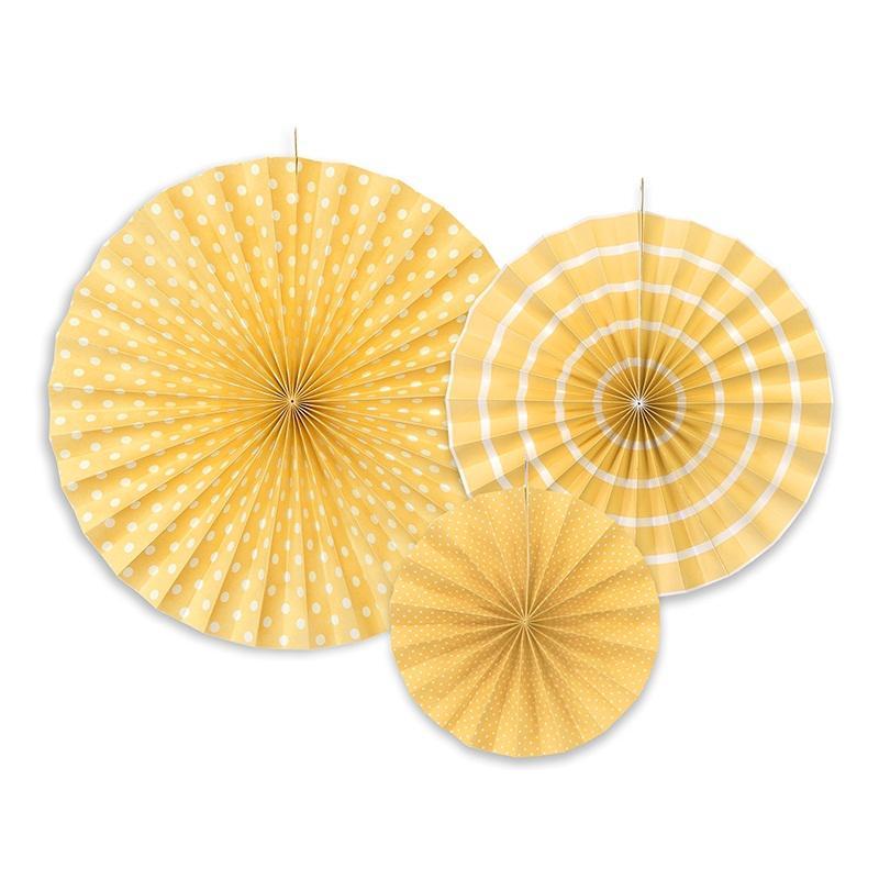 papír rozetta (3 db/cs) – sárga