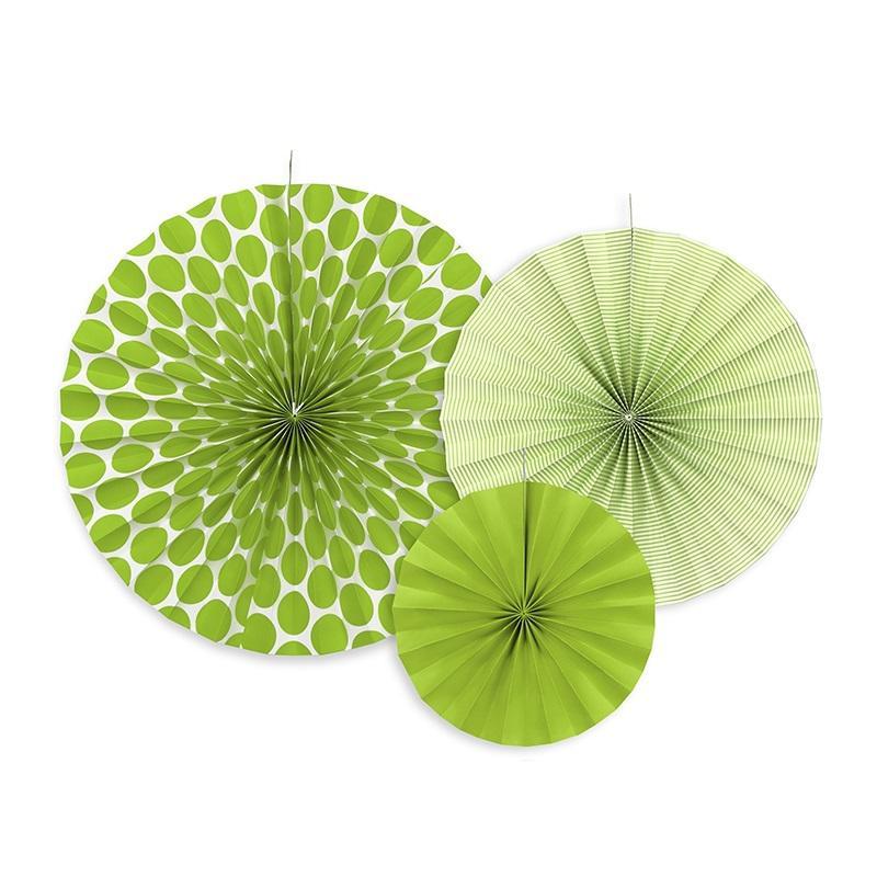 papír rozetta (3 db/cs) – zöld