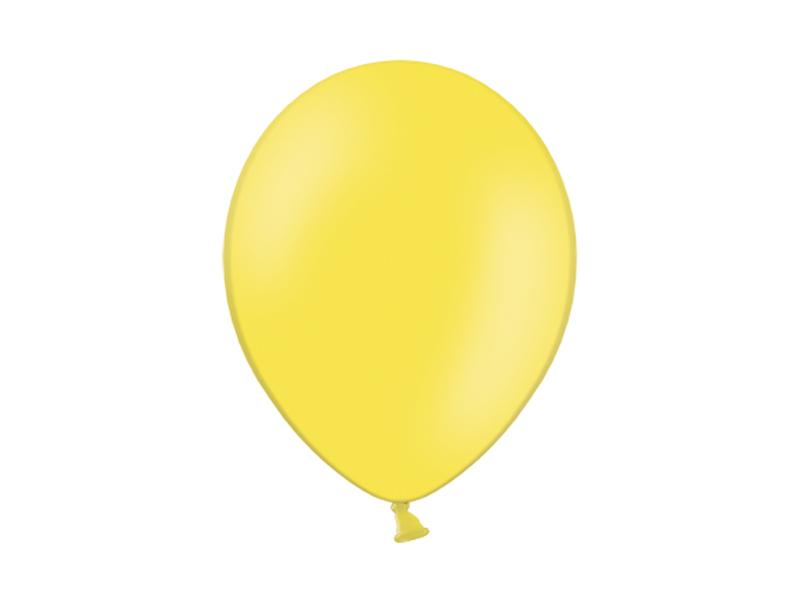 pasztell lufi 30 cm – citromsárga