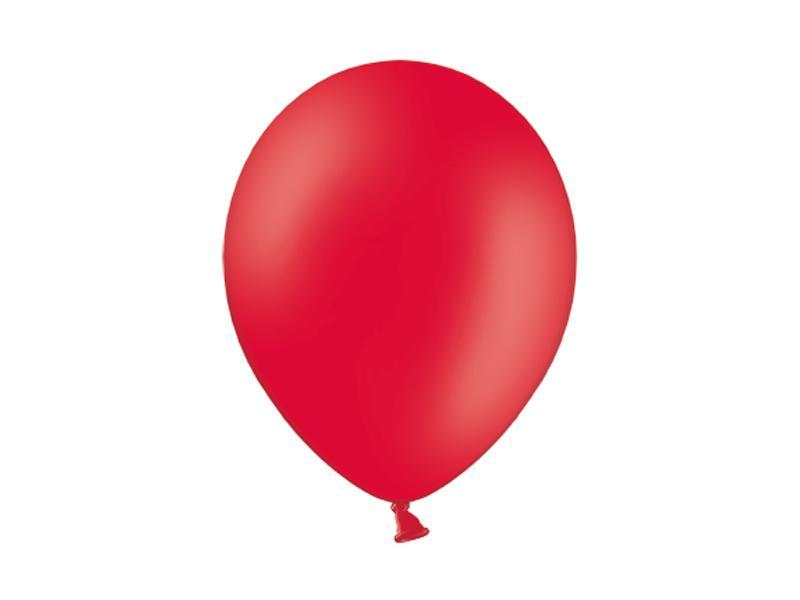 pasztell lufi 30 cm – piros