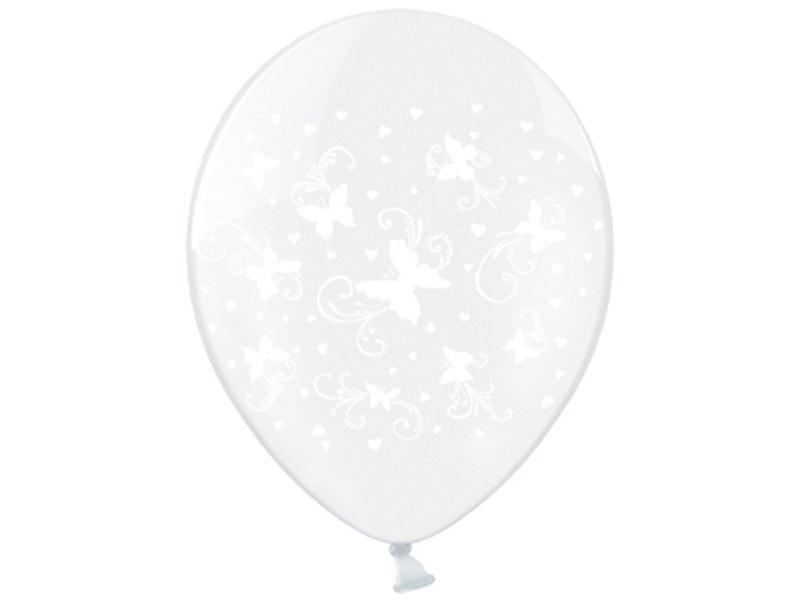pillangós lufi 30 cm (6 db/cs) – fehér