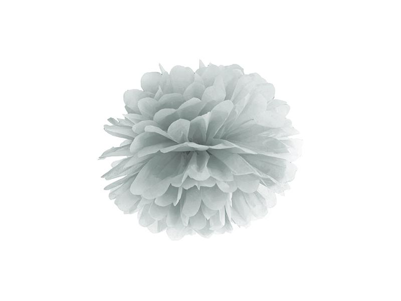pom-pom 25 cm – ezüst