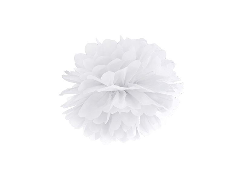 pom-pom 25 cm – fehér