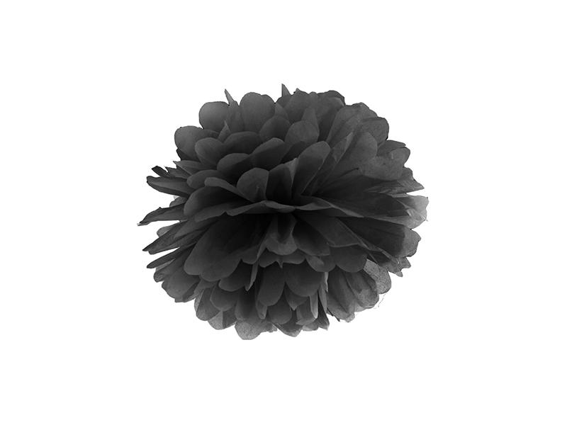pom-pom 25 cm – fekete