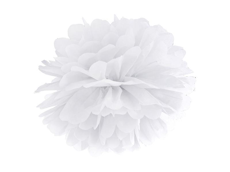 pom-pom 35 cm – fehér