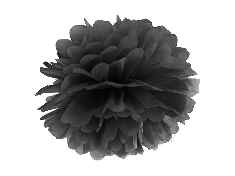 pom-pom 35 cm – fekete
