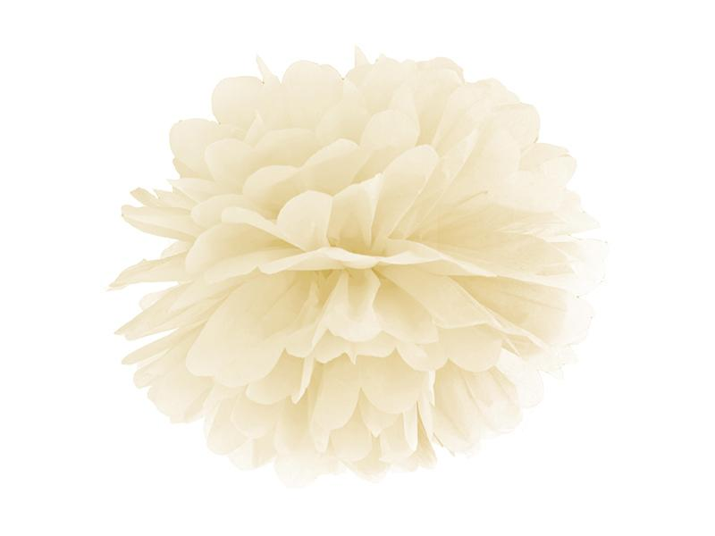 pom-pom 35 cm – krém