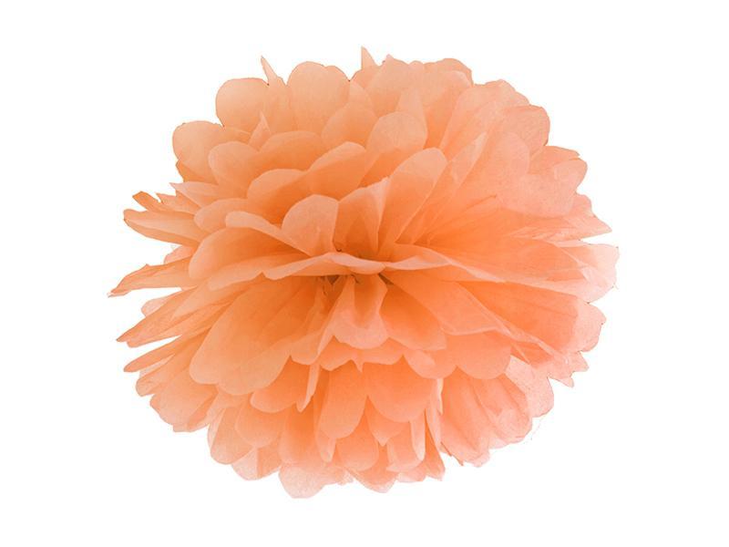 pom-pom 35 cm – narancs