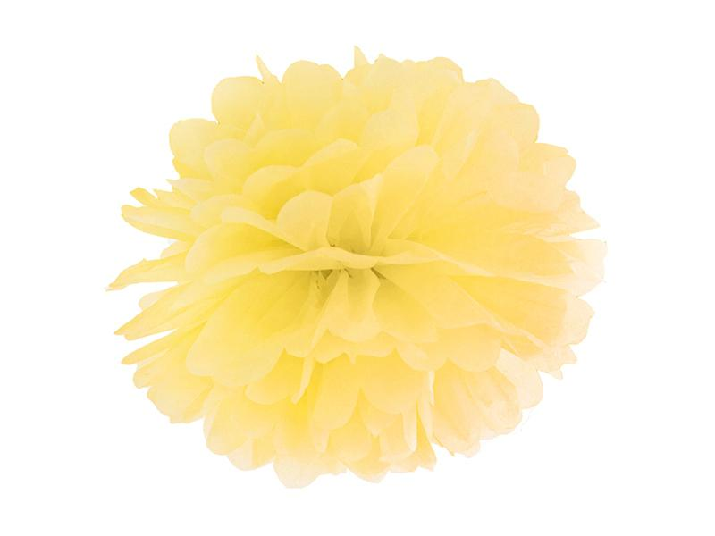 pom-pom 35 cm – sárga
