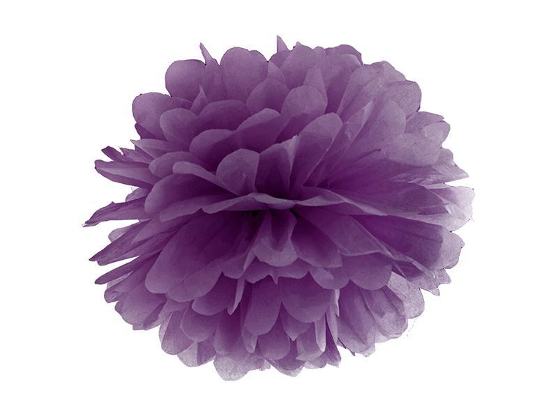 pom-pom 35 cm – sötétlila